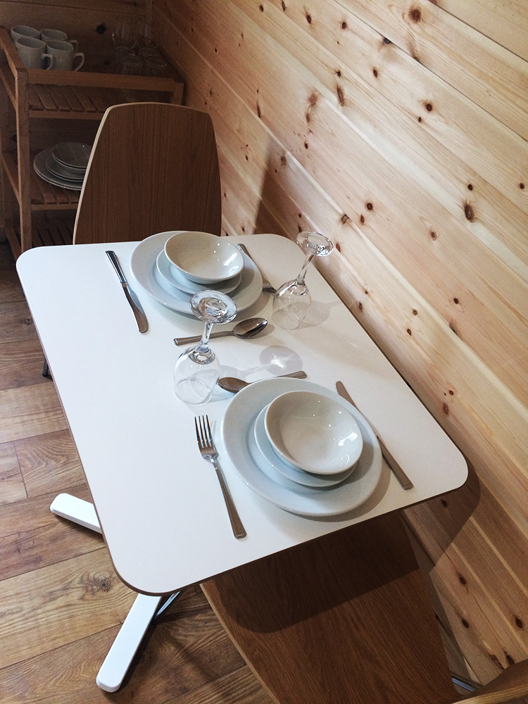 Glamping Pod Dining Area