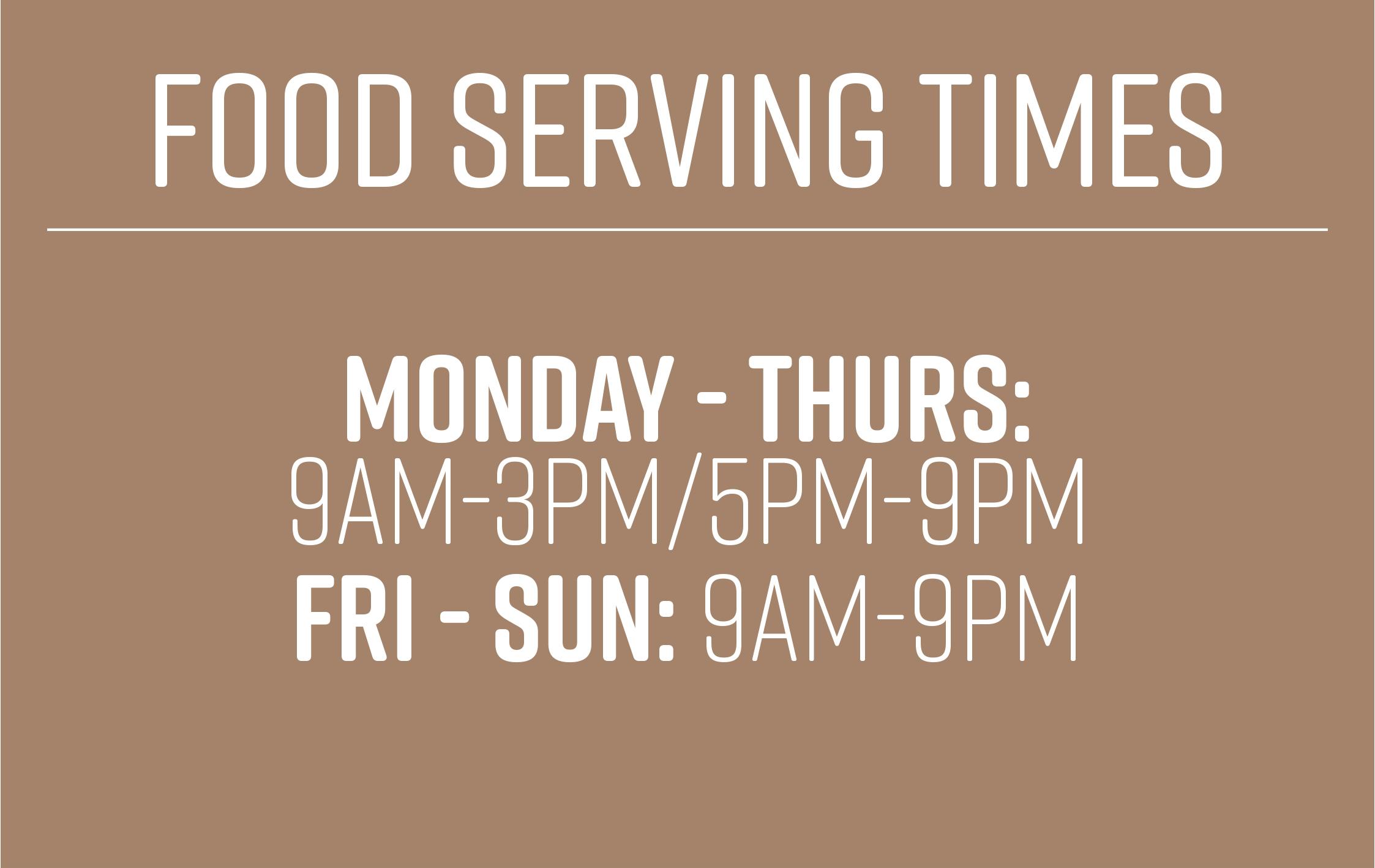 Food Serving Hours