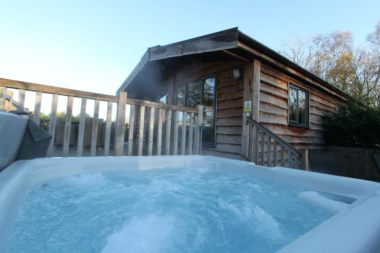 Hot Tub in Lodge